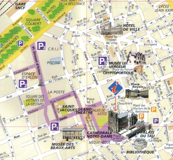 Plan Touristique Ville De Reims